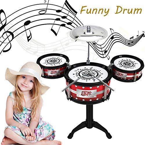 NoeCare Kids Drum Set - 3 Drums,Cymbal,2 Drum Stick - Little Rockstar Kit to Stimulating Children's Creativity, - Ideal Gift Toy for Kids, Teens, Boys & Girls