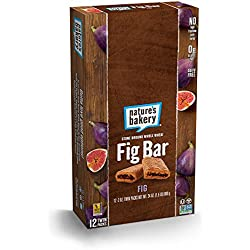 Nature's Bakery Whole Wheat Fig Bar, Vegan + Non-GMO, Original Fig (12 Count)