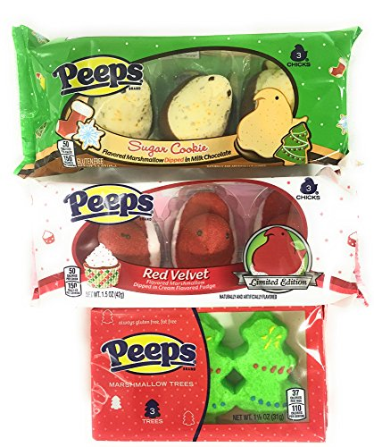 Peeps Holiday Bundle of Three Flavors: Red Velvet