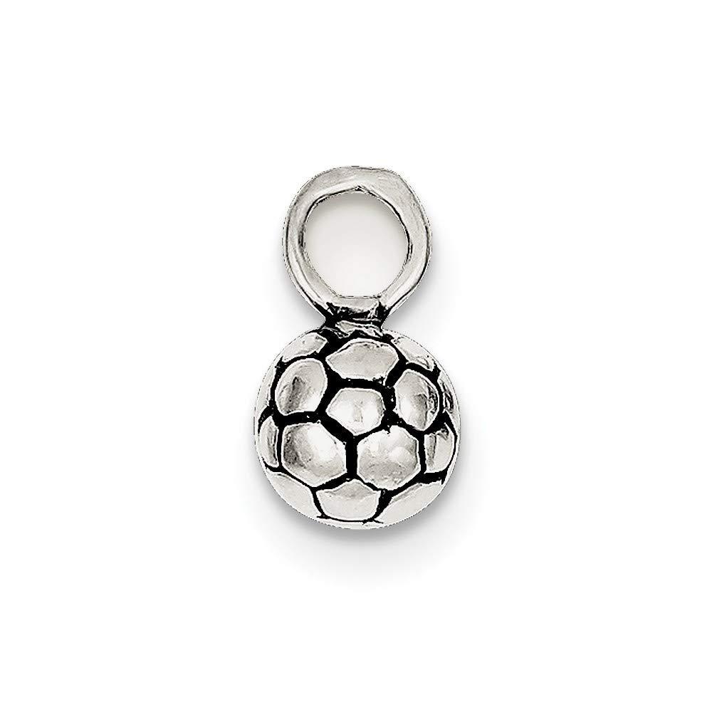 Plata esterlina del encanto del balón de fútbol antiguo ...