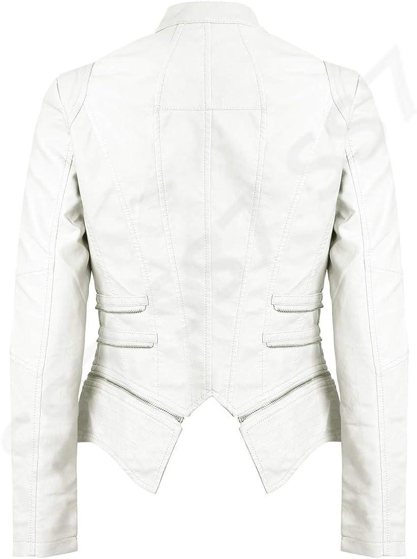 SS7 Womens Faux Leather Biker Jacket