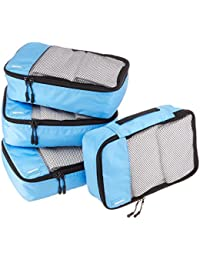 Small Packing Cubes - 4 Piece Set, Sky Blue