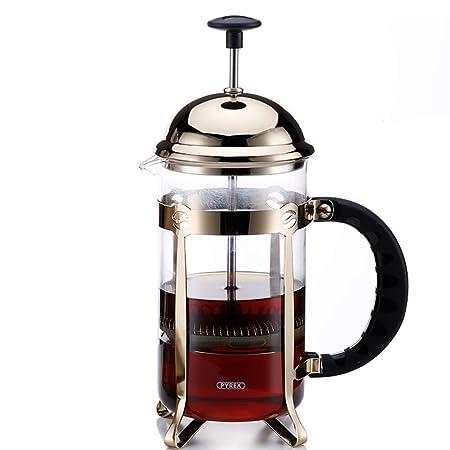 GYCC Cafetera de café de Prensa Francesa en Vidrio brosilicato 600 ...