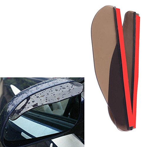 Money coming shop Promotional 2PCS Car Rear View Mirror Flexible Anti Rain Guard Shade Brown Auto Weatherstrip Wholesale Good Quality