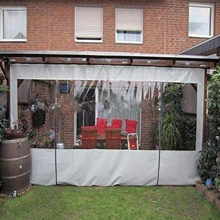 Amazon Com Waterproof Commercial Grade 0 5mm Vinyl Clear Awning Canopy Patio Enclosure 12x30ft Garden Outdoor