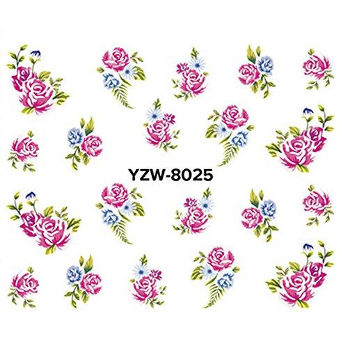 (USLovee3000 Makeup DIY Nail Applique Adhesive Flower Rattan Nail Sticker Lace Design Nail Paste)