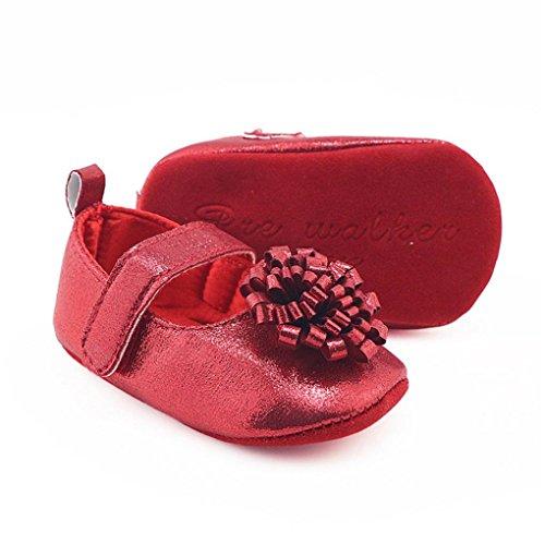 Xshuai Neugeborene Kleinkind Baby Mädchen Blumen Krippe Schuhe Soft