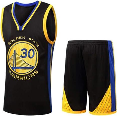 para los fanáticos de # 30 Stephen Curry Golden State Warriors Baloncesto Jersey Niños Adolescentes Adultos Ropa Deportiva Camisa Chaleco Top Summer Shorts Hombre Mujer Camiseta: Amazon.es: Deportes y aire libre