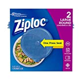 Ziploc Large Bowl Snap 'N Seal Lid 56 oz Containers 2 ct