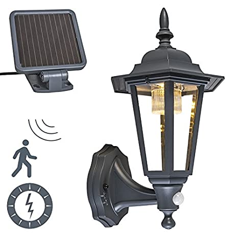 QAZQA Clásico/Antiguo Farol exterior solar LED NEW YORK gris oscuro Plástico/Metálica Otros