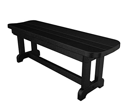 Pleasant Polywood Pbb48Bl Park 48 Backless Bench Black Cjindustries Chair Design For Home Cjindustriesco