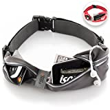 Sport2People Running Belt USA Patented. Fanny Pack for Hands-Free Workout. iPhone X 6 7 8 Plus Buddy Pouch for Runners. Freerunning Reflective Waist Pack Phone Holder. Men Women Kids Gear Accessories