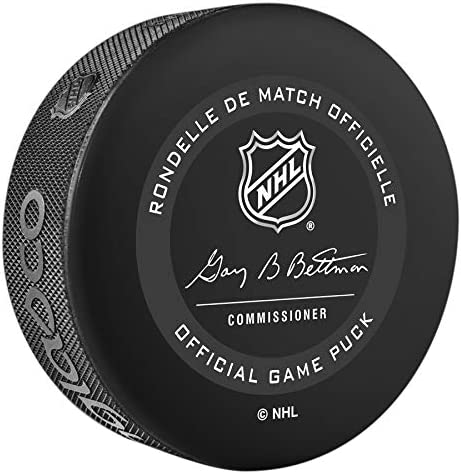Inglasco Maple Leafs Official Game Hockey Puck in Cube