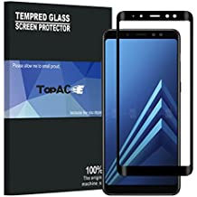 TopACE Bye-Bye-Bubble Premium Quality Tempered Glass 0.3mm Full Cover Screen Protector for Samsung Galaxy A8 2018 (Black)