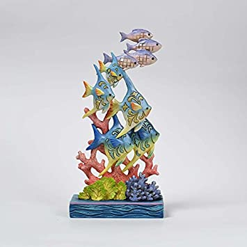Jim Shore HWC Sea Lifes Beauty Ocean Wonderland Fish by Coral Figurine 4057695