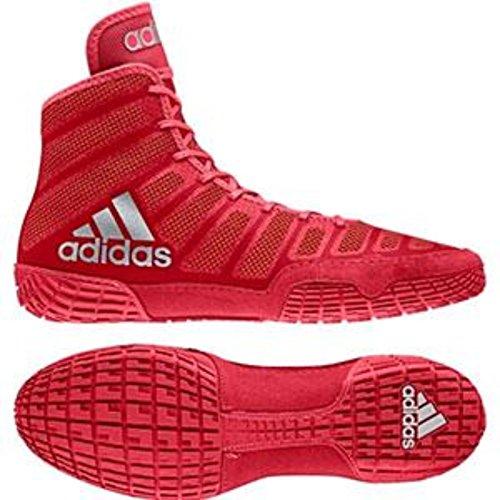 adidas adiZero Varner Mens Wrestling Shoes, Red/Silver/Red Size 9 (Shoes Wrestling 9 Size)