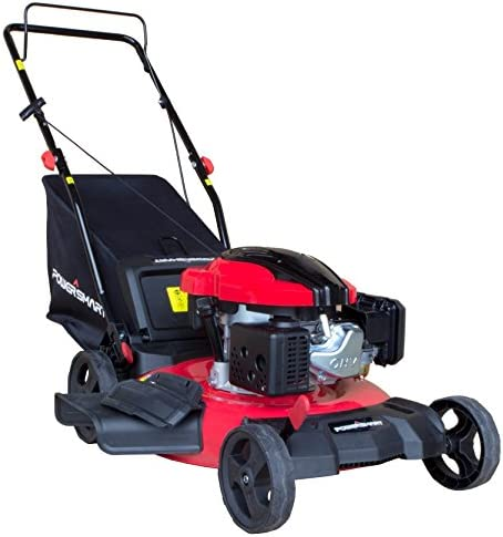 PowerSmart DB8621P 3-in-1 159cc Gas Push Mower, 21 , Red, Black
