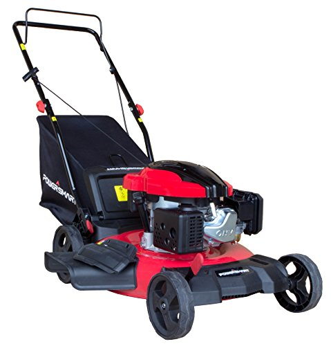 PowerSmart DB8621P 3-in-1 159cc Gas Push Mower, 21 , Red, Black