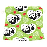 Dragon Sword Sleeping Pandas Hearts Gift Bags Jewelry Drawstring Pouches for Wedding Party, 6x8 Inch