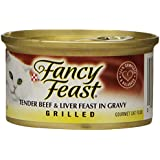 Purina Fancy Feast Grilled Tender Beef & Liver Feast in Gravy Cat Food - (24) 3 oz. Pull-top Can