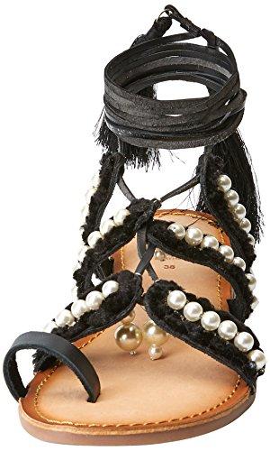 Sandali Donna 45339 Gioseppo Aperta black Punta Nero v6CnFc