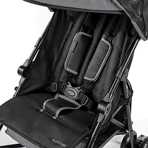 Summer 3Dmini Convenience Stroller, Gray - Lightweight Infant Stroller with Compact Fold, Multi-Position Recline, Canopy with Pop Out Sun Visor and More - Umbrella Stroller for Travel and More