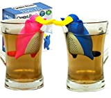 CREATORSTUDIO Platypus Loose Leaf Tea Infuser Strainer (Gift Set of 2) Cute Animal Novelty Tea Steeper for Detox, Cleanse, Herbal Weight Loss & Mulling Spices, Made from Non Toxic Silicone