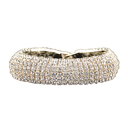 Elegant and Sparkly Rhinestone Bracelet.Crystal Tennis Bracelet for Women.Gold or Silver Plated by Foxy Lady Jewelry