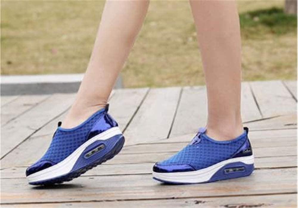 Super explosion Womens Walking Shoes Breathable Mesh Slip On Athletic Shoes Fashion Sneakers