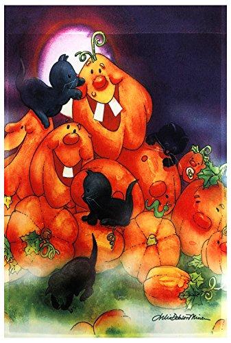Halloween Pumpkin Artwork (51groups Halloween Happy Pumpkins & Black Cats Garden Flag 12