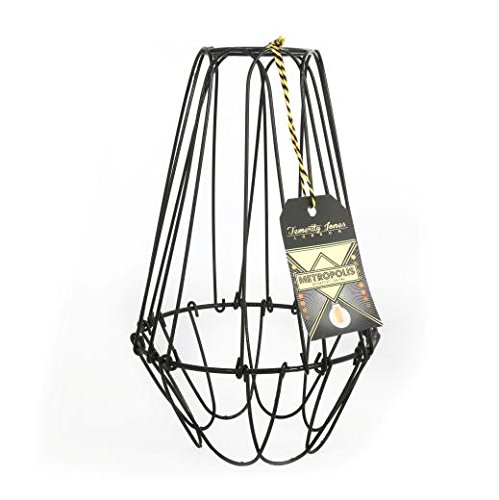 metropolis large cage wire lamp shade amazon co uk lighting rh amazon co uk lampshade wire lampshade wire