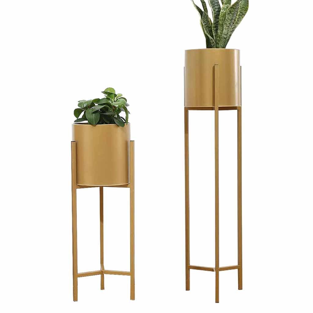 Flower Stand Vaso per Piante cremagliera Indoor Outdoor Soggiorno Balcone Giardino Patio Standing Planter Decorazione Display Holder Home Herb Bonsai Mensola Simple European Style