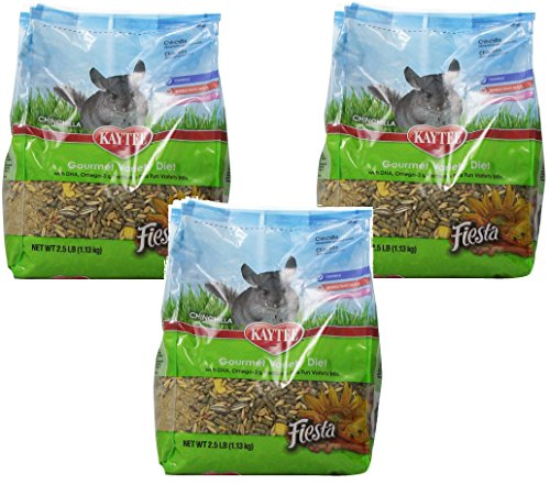 (3 Pack) Kaytee Fiesta Food For Chinchillas 2.5 Pound Bag (Food Chinchilla Kaytee)