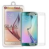 S6 Edge+/Edge Plus Glass Screen Protector, iCoverCase Premium HD Clear Film [Full Screen Coverage] Tempered Glass Screen [Crystal Shield] Protector for Samsung Galaxy S6 Edge+/Edge Plus (Clear)