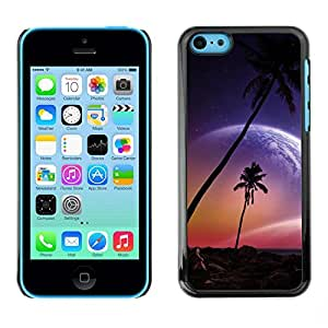 Be Good Phone Accessory // Dura Cáscara cubierta Protectora Caso Carcasa Funda de Protección para Apple Iphone 5C // Beautiful Pink Planet Beach Paradise