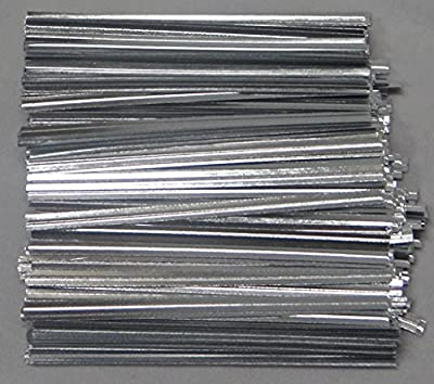"Metallic Silver Paper Twist Ties 100 Count 3 1/2"" Length Candy Making Supplies"