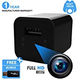 Night Vision Hidden Spy Camera USB Wall Charger - Motion Detection/Infrared/1080P FULL HD - Supports a Maximum of 32GB Micro SD Card (Not Included & Required to Record)