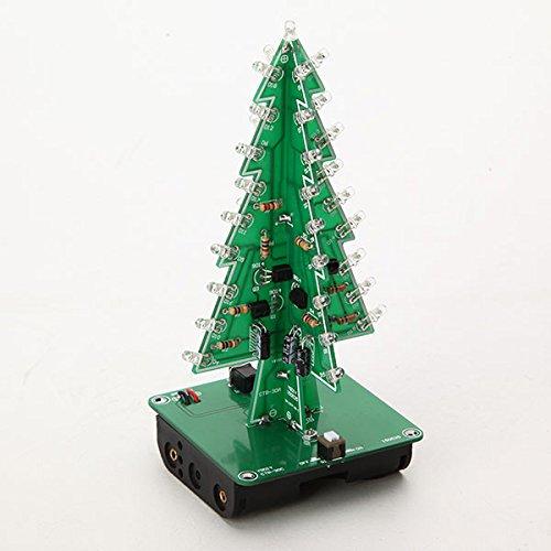 Docreate Christmas Tree LED Flash Kit 3D DIY Electronic Learning Kit (Adult Christmas Tree)