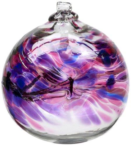 Kitras 6-Inch Birthday Ball, February by Kitras Art Glass