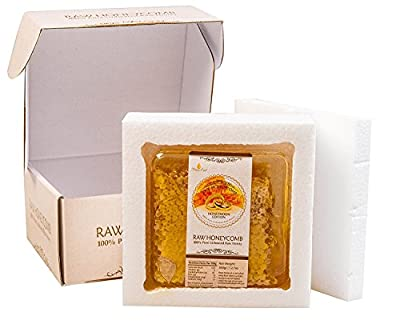 Honey Land Elegant Wedding Gift Box for Bride and Groom 100% Pure Unfiltered Sweet Honeycomb Honeymoon Edition Newlywed Vegan Kosher Couple 12.6oz/360gr, Healthy Carbs NO Pesticides Chemicals