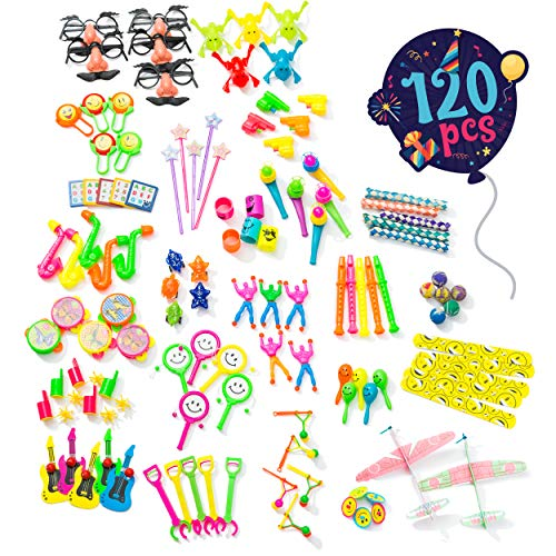 Birthday Party Favors For Kids Pack of 120 Pcs - Bulk Toys Assortment | Goodie Bag Fillers and Stuffers | Pinata Filler Toys | Treasure Box Prizes for Classroom (Best Loot Bag Ideas)