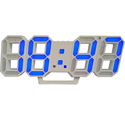 iMinker electrónico 3D LED Reloj de Pared Despertador Digital con 12/24 Horas