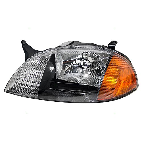 Drivers Headlight Headlamp Replacement for Chevrolet Suzuki 91175607 AutoAndArt
