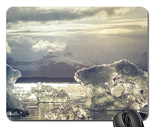 Mouse Pad - Ice Glassy Transparent Crystal Reflection Arctic (Polar Crystal Sculpture)
