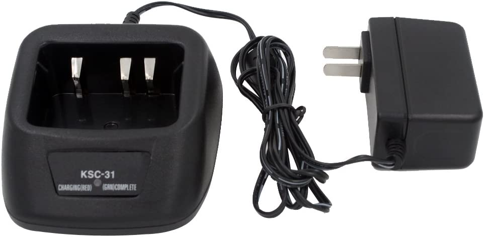 AOER Rapid Quick Charger with AC adoputor for Kenwood Radio KSC-31 KNB-29N KNB-30A KNB-45L TK-2207 TK-2207G TK-3206M3 TK-3207 TK-3207G TK-3307 TK-3307M2