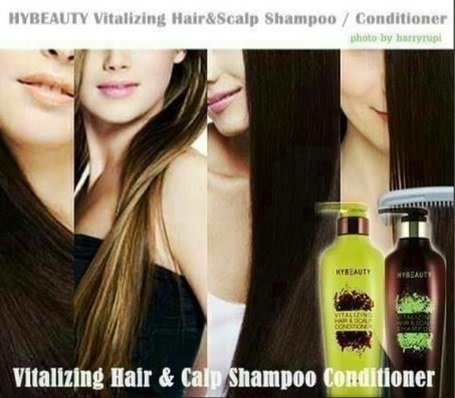4 Sets Hybeauty Vitalizing Hair & Scalp Shampoo and Conditioner 300 ml.with tracking & gift by Hybeauty (Image #8)