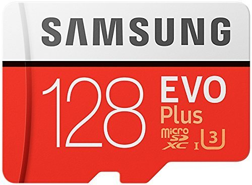 Samsung Evo Plus Class 10 UHS-I microSDXC U3 with Adapter (128GB MB-MC128GA/APC) (Samsung 128gb Microsdxc Evo Memory Card With Adapter)