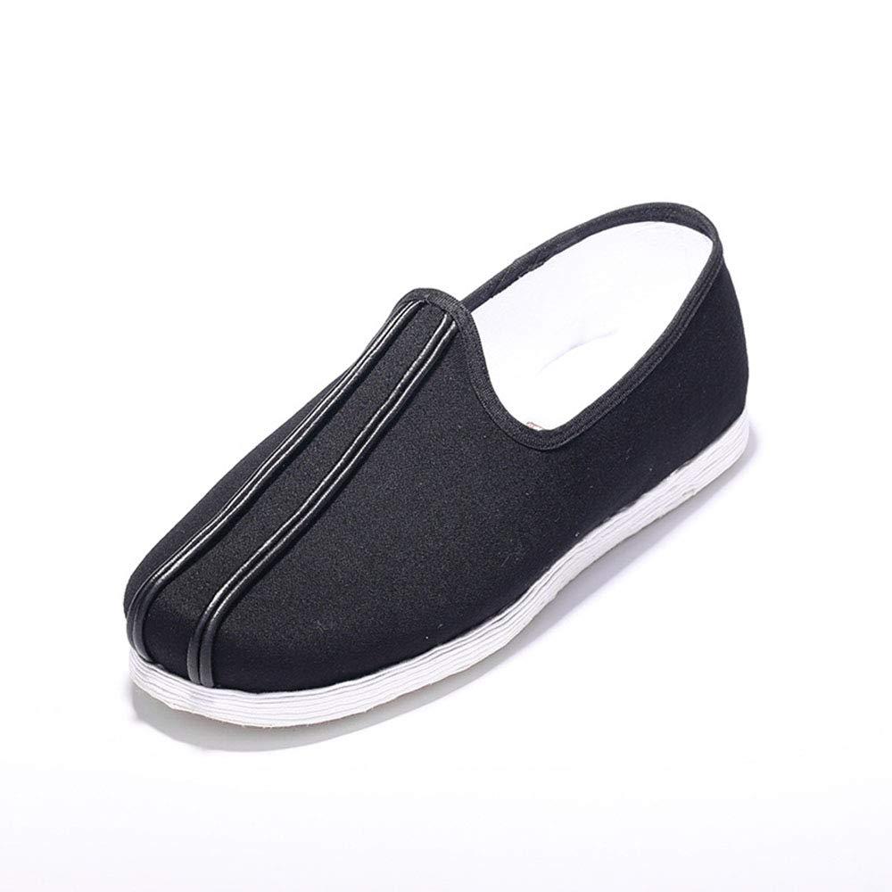 zapatos de Lona Transpirables de Hombre, Boca rojoonda de Beijing Vieja, Interior cómodo, Suela ponible,2pair,EU42UK8.5