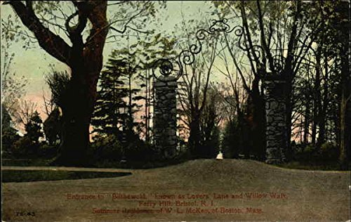 Entrance to Blithwood Bristol, Rhode Island Original Vintage Postcard Bristol Entrance