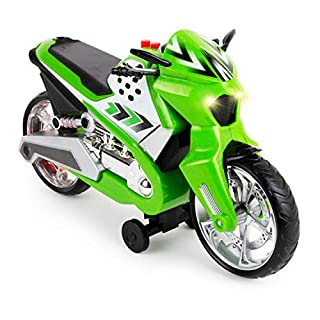 Boley Wheelie Lifter - 1 Pack Green Toy Motorcycle for Boys and Girls - Bike Toy Motorcycles for Toddlers and Kids